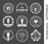 set of logos rock music and... | Shutterstock .eps vector #269596814