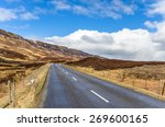 Deserted Narrow Road In The...