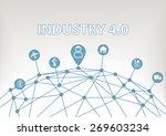 industry 4.0 vector...   Shutterstock .eps vector #269603234