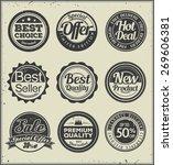 a set of vintage badges | Shutterstock .eps vector #269606381