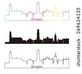 bruges skyline linear style... | Shutterstock .eps vector #269624135