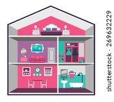 vector house interior   Shutterstock .eps vector #269632229