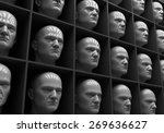 many of the same people's heads ... | Shutterstock . vector #269636627