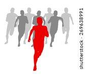 winner finish vector background ... | Shutterstock .eps vector #269638991