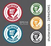 vector   nut free certified... | Shutterstock .eps vector #269642441