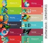 flat modern info banner set... | Shutterstock .eps vector #269645411