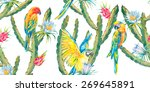 tropical seamless background... | Shutterstock .eps vector #269645891