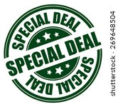 green circle special deal... | Shutterstock . vector #269648504