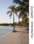 early sunset at a sandy beach... | Shutterstock . vector #2696570