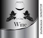 wine glass concept menu design. ...   Shutterstock .eps vector #269659739