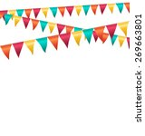 multicolored bright buntings... | Shutterstock . vector #269663801