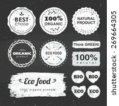 set of labels for eco food and... | Shutterstock .eps vector #269664305