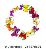 wreath border frame with... | Shutterstock . vector #269678801
