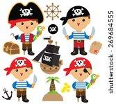 pirate vector illustration  | Shutterstock .eps vector #269684555