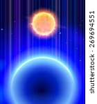 magic space   the sun and the... | Shutterstock .eps vector #269694551