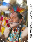 Close Up Portrait Of Native...