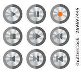 set of media buttons isolated... | Shutterstock .eps vector #269697449