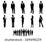 vector illustration of a white... | Shutterstock .eps vector #269698229