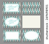 set of cards templates with... | Shutterstock .eps vector #269698901