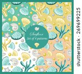 set of four patterns with... | Shutterstock .eps vector #269699225
