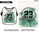 Palm print in vector with t-shirt shape