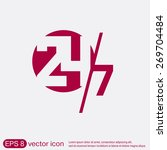 24 7 icon. open 24 hours a day... | Shutterstock .eps vector #269704484
