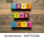 date  save  greeting. | Shutterstock . vector #269712284
