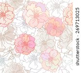 decorative floral seamless... | Shutterstock .eps vector #269713025