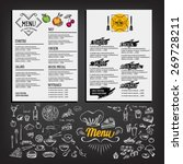 food menu  restaurant template... | Shutterstock .eps vector #269728211