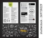 food menu  restaurant template... | Shutterstock .eps vector #269728229