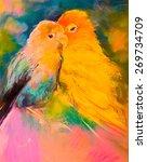original pastel painting on... | Shutterstock . vector #269734709