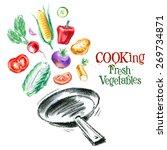 cooking vector logo design... | Shutterstock .eps vector #269734871
