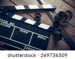 film  cinema  clapper. | Shutterstock . vector #269736509
