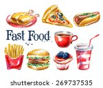fresh food vector logo design... | Shutterstock .eps vector #269737535