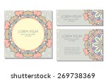 greeting card  invitation or... | Shutterstock .eps vector #269738369