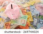 australian money   aussie... | Shutterstock . vector #269744024
