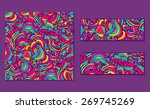 set of bright abstract ... | Shutterstock .eps vector #269745269