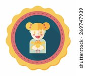 chinese new year girl flat icon ... | Shutterstock .eps vector #269747939