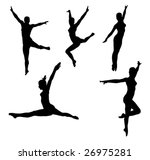set of vector silhouettes of... | Shutterstock .eps vector #26975281