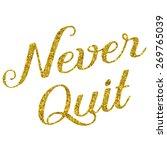 glittery gold faux foil...   Shutterstock . vector #269765039