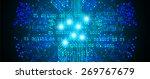 dark blue color light abstract... | Shutterstock .eps vector #269767679
