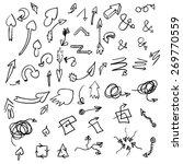 hand drawn vector arrows ... | Shutterstock .eps vector #269770559
