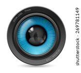 camera lens isolated on white...   Shutterstock .eps vector #269781149