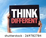 think different card with sky... | Shutterstock . vector #269782784