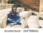 freelancer guy with dreadlocks... | Shutterstock . vector #269788061