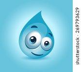 water drop character   Shutterstock .eps vector #269793629
