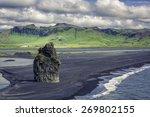 The Black Sand Beach With...