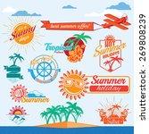 set of vector summer emblems | Shutterstock .eps vector #269808239