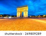 arc de triomphe illuminated at... | Shutterstock . vector #269809289
