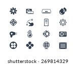 air conditioning icons | Shutterstock .eps vector #269814329